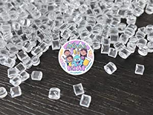50g Miniature Ice Cubes - Fake Candy Sweets Sugar Crystals Sprinkles Decoden Resin Cabochons Decorations for Fake Cake Dessert Simulation Food Fake Dessert Polymer Clay (Mini Resin Fake Ice Cubes)