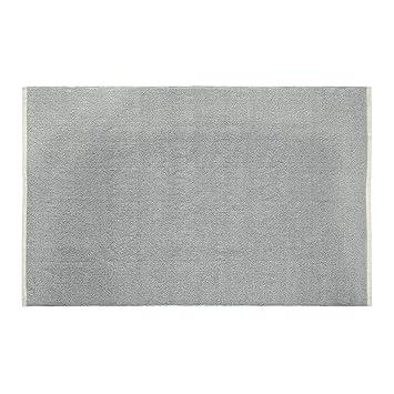 Homescapes Tapis de Couloir Chenille uni en 100% Coton Gris Clair ...
