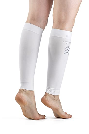 b907e3f2d02a22 Image Unavailable. Image not available for. Color: SIGVARIS Unisex  Performance Compression Running Sleeve 412V 20-30mmHg