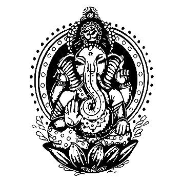 Amazon.com: Adhesivos de pared elefante indio Tribal patrón ...