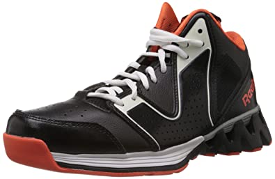 Reebok Classics Men's Zigkick Hoops II Black, White and Orange Basketball  Shoes ...