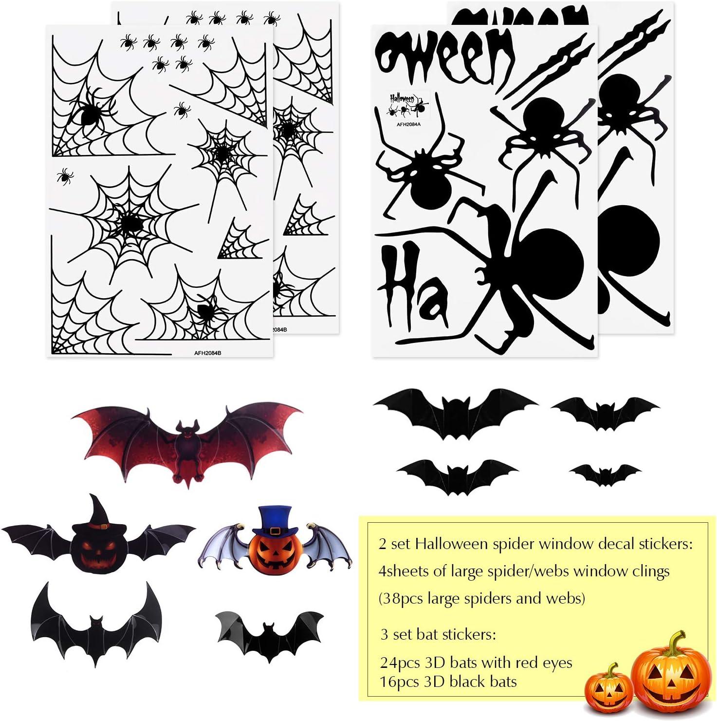 Spiders web MDF wall art window decoration craft shape halloween party