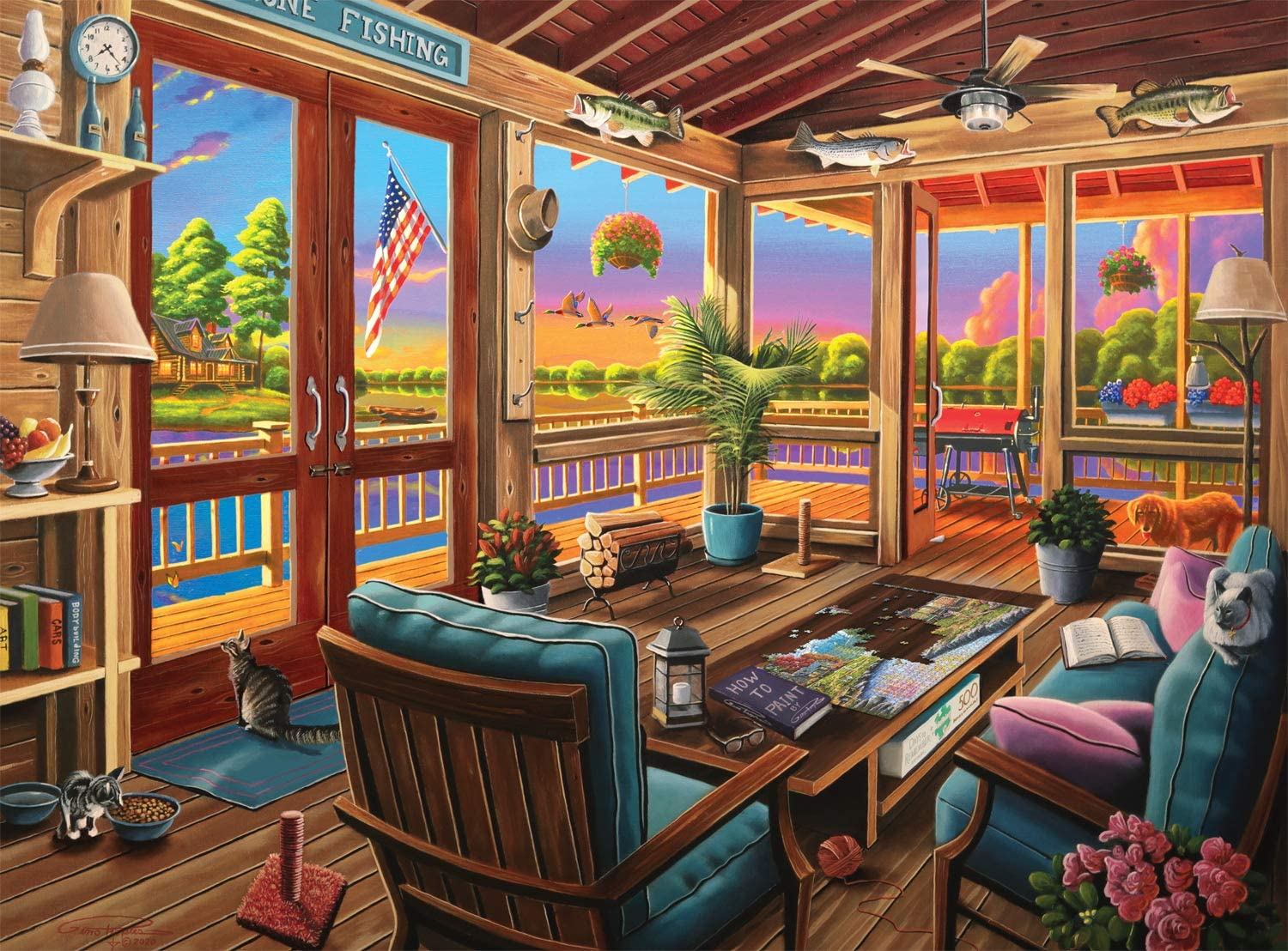 Buffalo Games - Geno Peoples - Lakeside View - 1000 Piece Jigsaw Puzzle