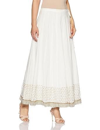 7f7387a549 Biba Off White Cotton Skirt at Amazon Women's Clothing store: