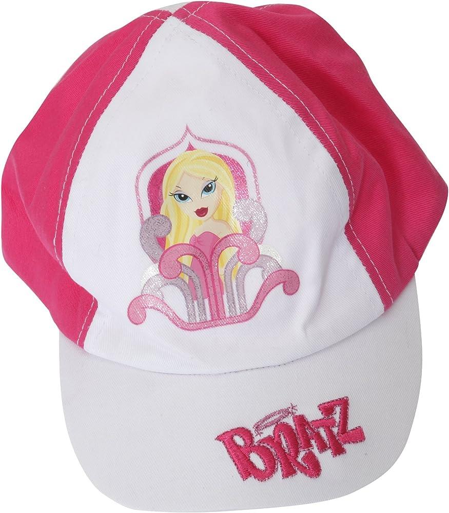 Gorra de Bratz para niñas - Primavera Verano (4-8 Años/Blanco/Rosa ...