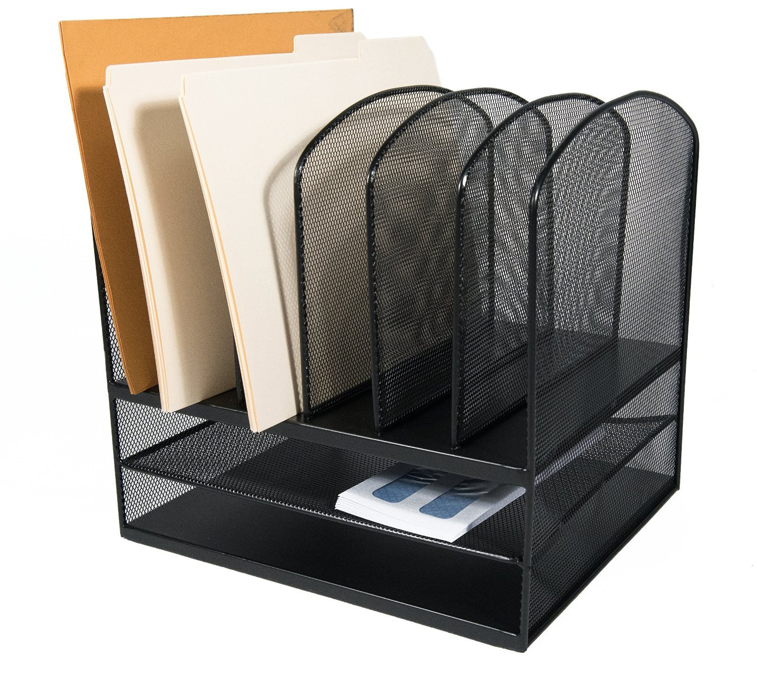 desk paper organizer adiroffice mesh desk organizer desktop paper file folder 14687