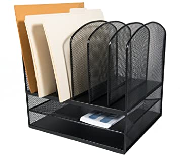 adiroffice mesh desk organizer desktop paper file folder organizer holder letter