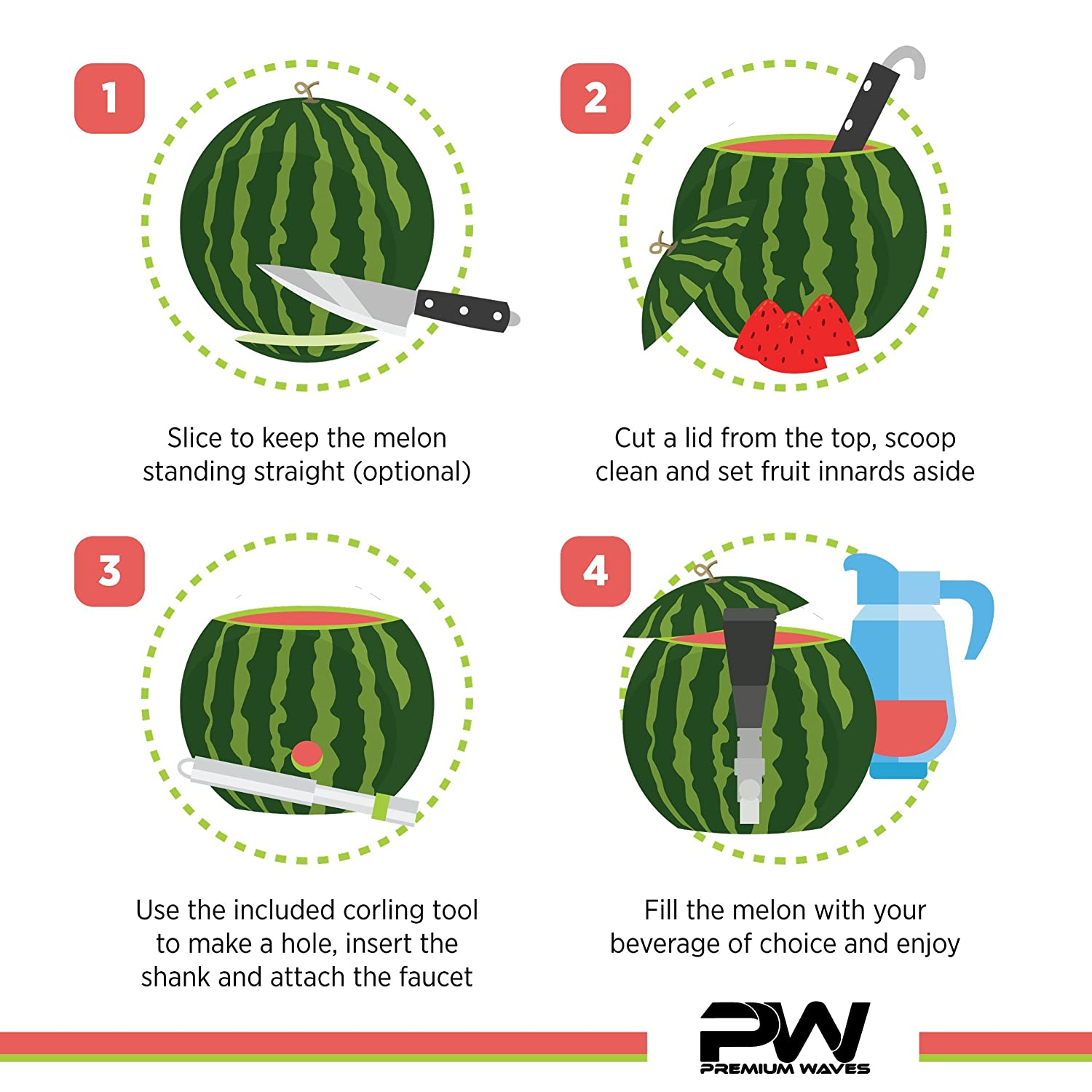 Watermelon Tap With watermelon slicer Watermelon Keg Tapping Kit ...