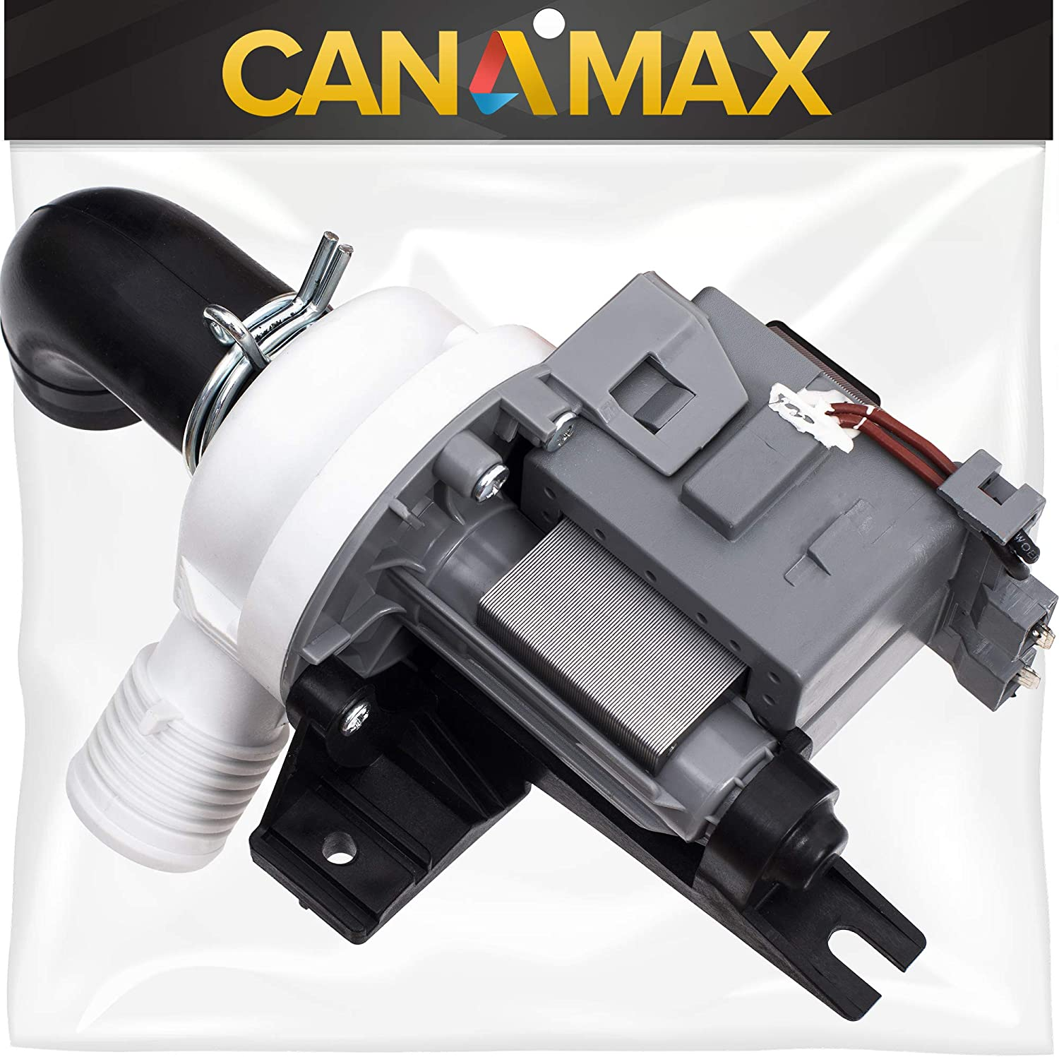 W10536347 Washer Drain Pump Premium Replacement Part by Canamax - Compatible with Kenmore Whirlpool Washers - Replaces AP5650269, W10049390 W10155921 W10217134