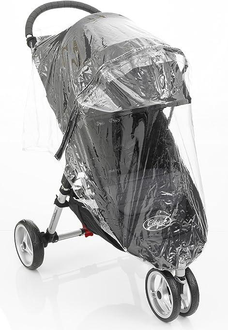 Protector de lluvia con cremallera para cochecito City Mini Single de la marca Baby Jogger transparente City Mini Single