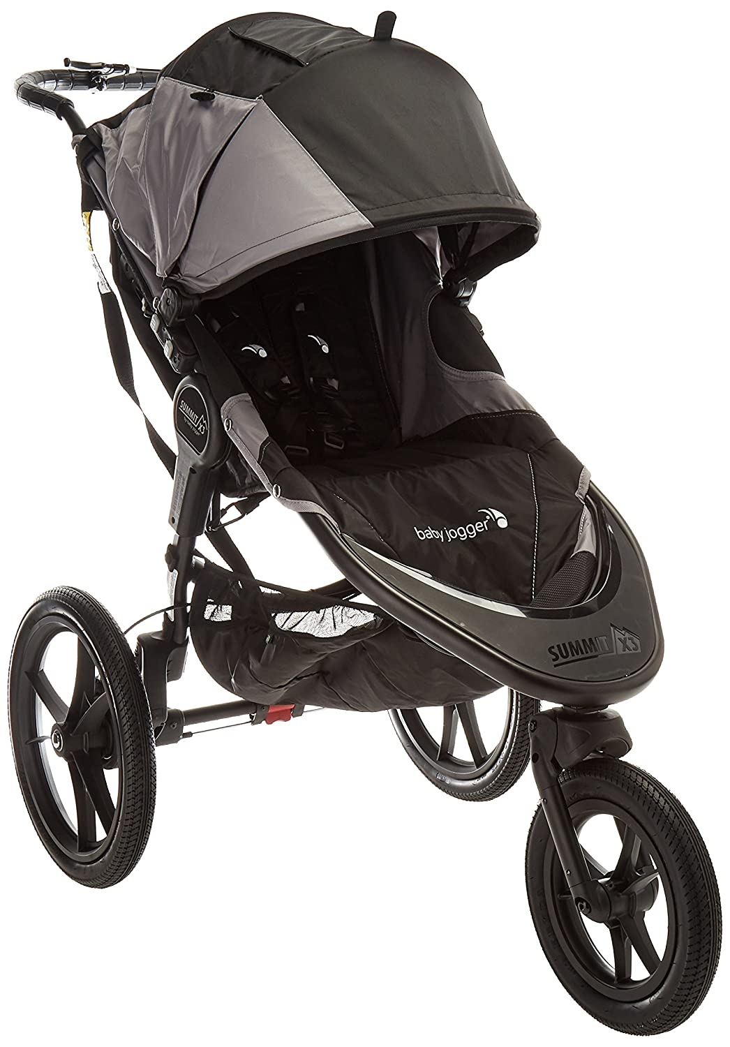 Baby Jogger Summit X3 Jogging Stroller – 2016 Air-Filled Rubber Tires All-Wheel Suspension Quick Fold Jogging Stroller, Black Gray