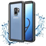 MoKo Samsung Galaxy S9 Waterproof Case, Ultra Protective Case with Built-in Screen Protector, Shock-absorbing Bumper Submersible Cover for Galaxy S9 5.8 Inch 2018 - Black