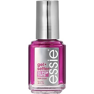 essie Top Coat Nail Polish, Gel-Setter 3D Pop Tints Top Coat, 01 Blush Pink