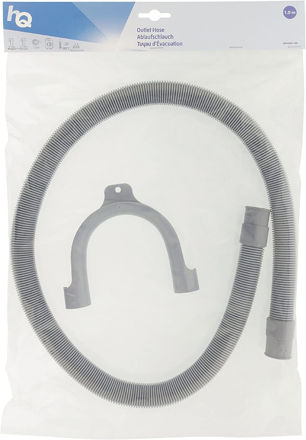 /Outlet Hose with 21/Connections and 1.00/m 19/mm Straight HQ/
