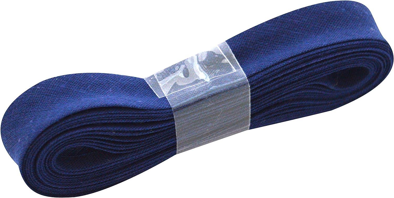 3/m blau Inastri Baumwoll Baumwolle Schr/ägband 14//4//4/mm Farbe Marineblau 34