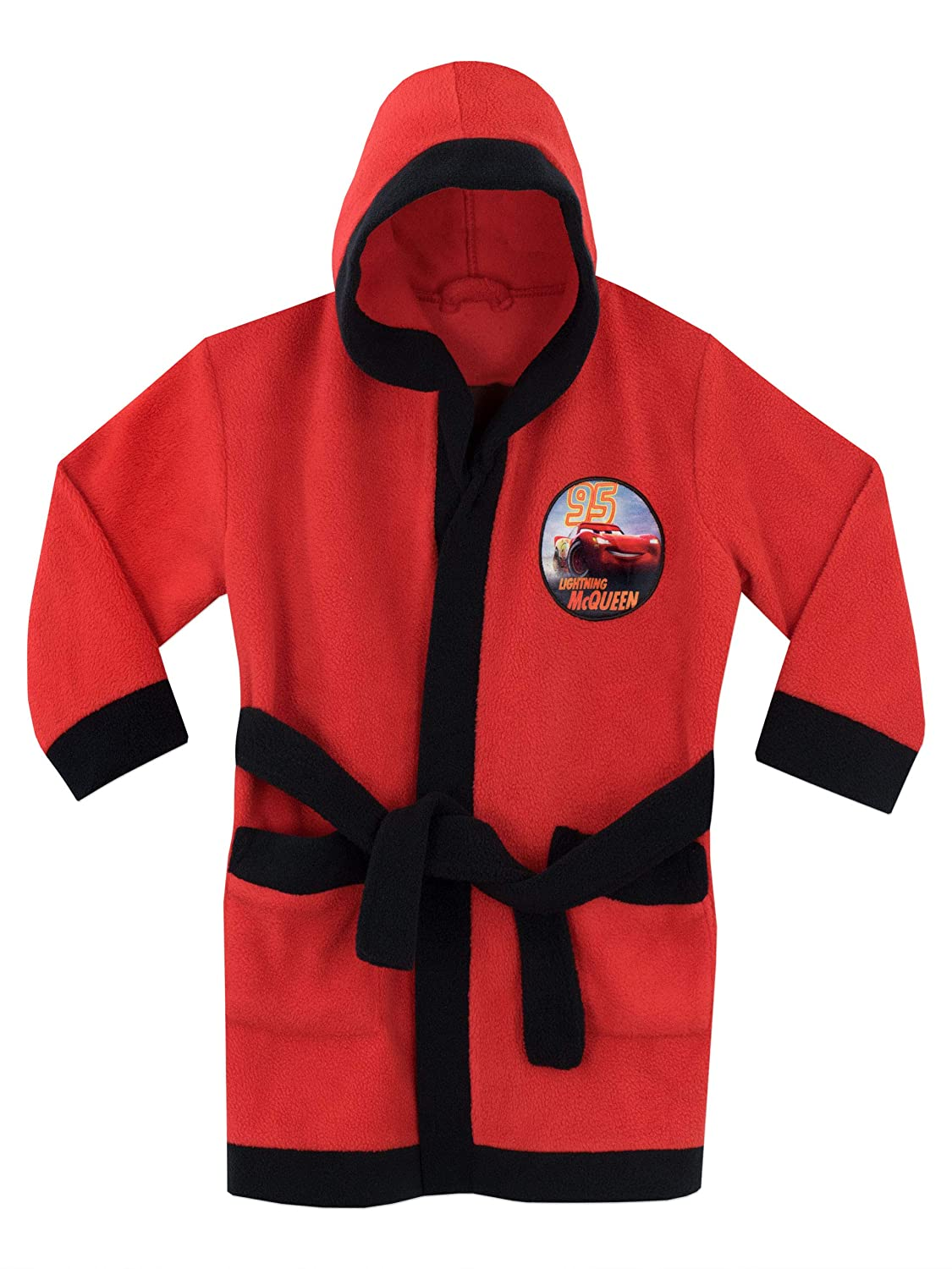 Disney Boys Cars Dressing Gown Lightning McQueen Size 3T to 8