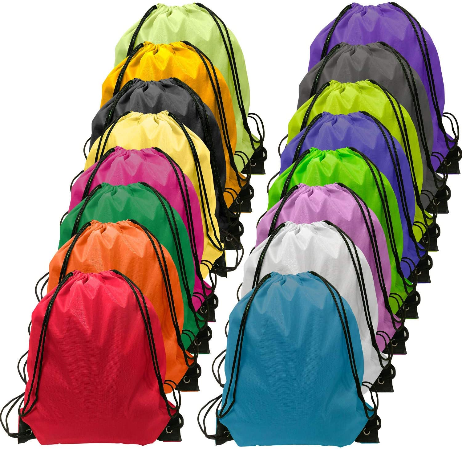 Drawstring-Backpack-Bulk-Large Drawsting Bag Kids Drawstring Backpack String Bag 16 Colors