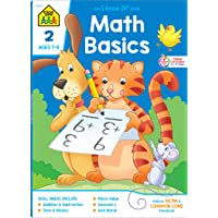 School Zone - Math Basics 2 Workbook - 64 Pages, Ages 7 to 8, Addition & Subtraction, Time & Money, Place Value, Sums and Differences, Fact Families, and More (School Zone I Know It!® Workbook Series)