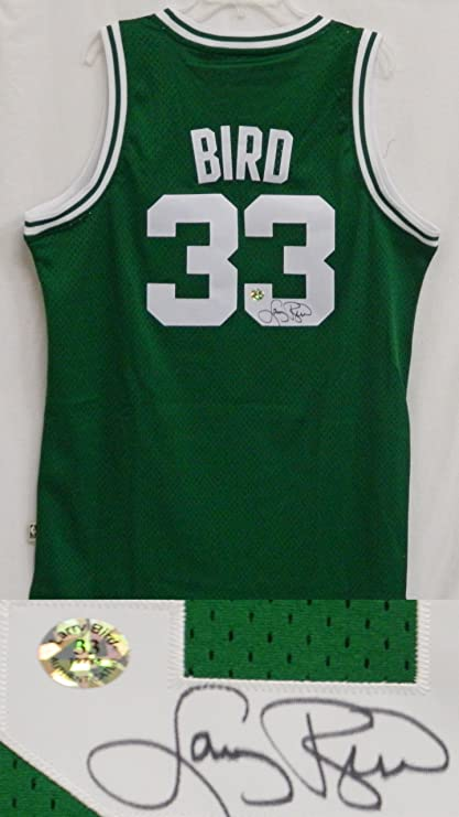 detailed look a5957 0dce0 Larry Bird Signed Celtics Green Authentic Swingman Jersey ...