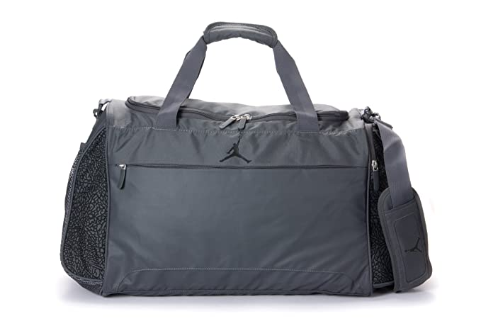 2cfc22d5e89f Image Unavailable. Image not available for. Color  NIKE Air Jordan Male  Sports Gym Travel Bag in Grey ...