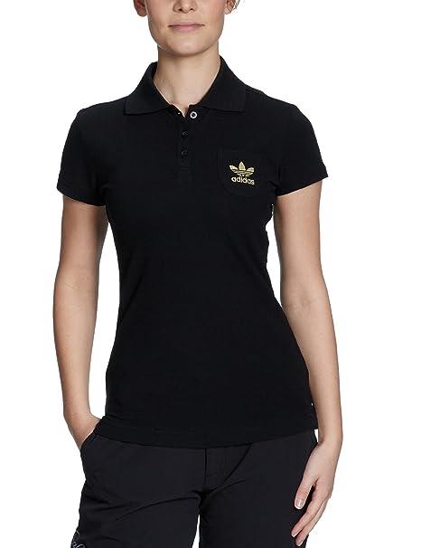 adidas - Camiseta de pádel para Mujer, tamaño 40, Color Negro/Dorado: Amazon.es: Ropa y accesorios