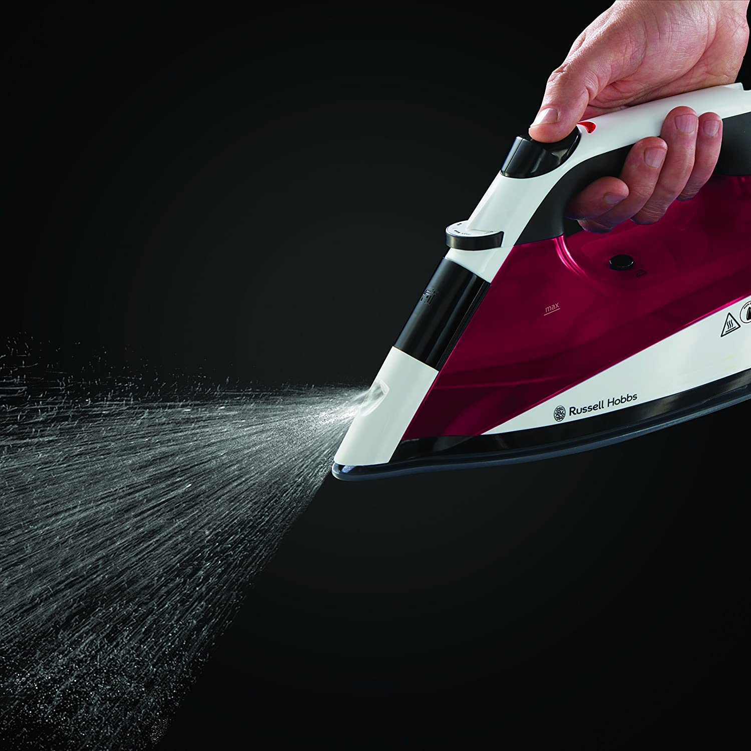 Buy Russell Hobbs Auto Steam Pro Non-Stick Iron 22520, 2400 W - White and  Red Online at Low Prices in India - Amazon.in