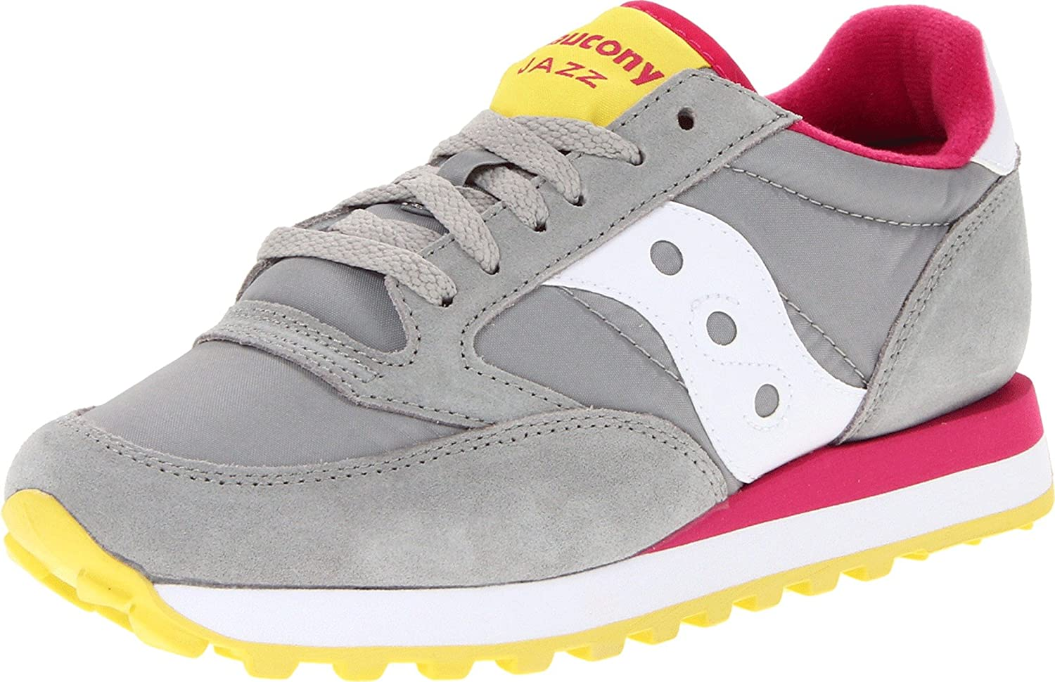 Saucony Originals Women's Jazz Original Sneaker B0083LPDKU 10 B(M) US|Grey/Pink/White