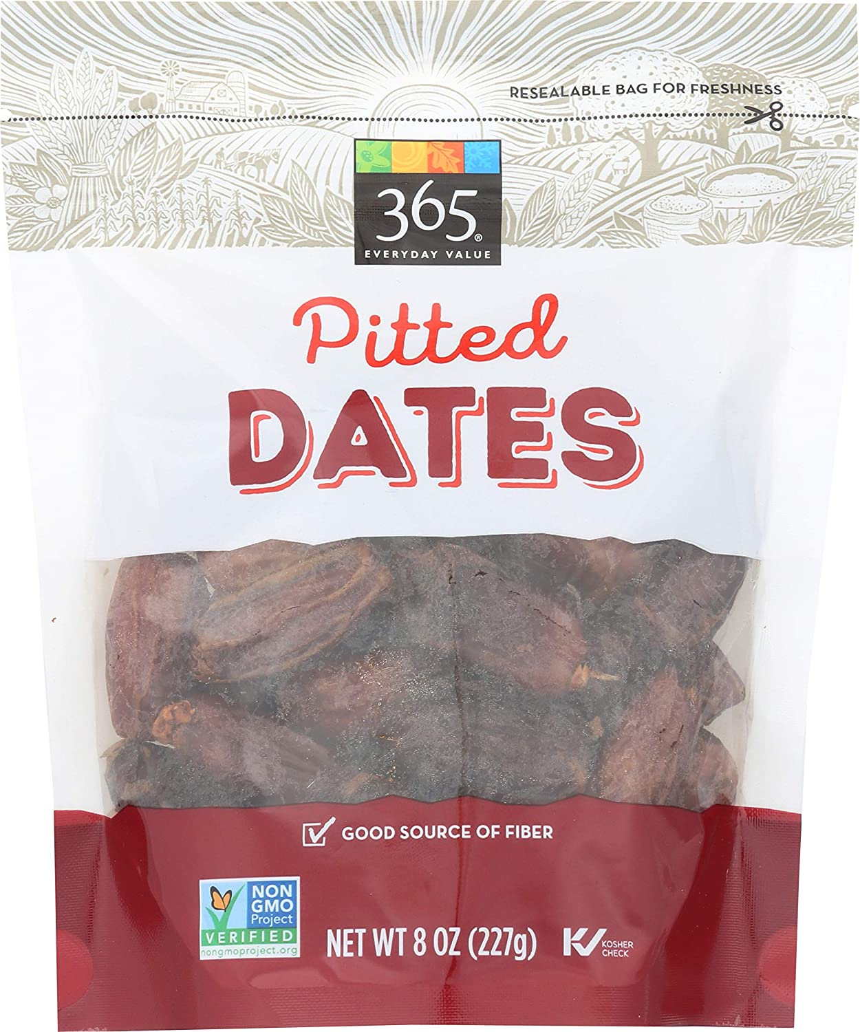 365 Everyday Value Dates, Pitted, 8 Ounce