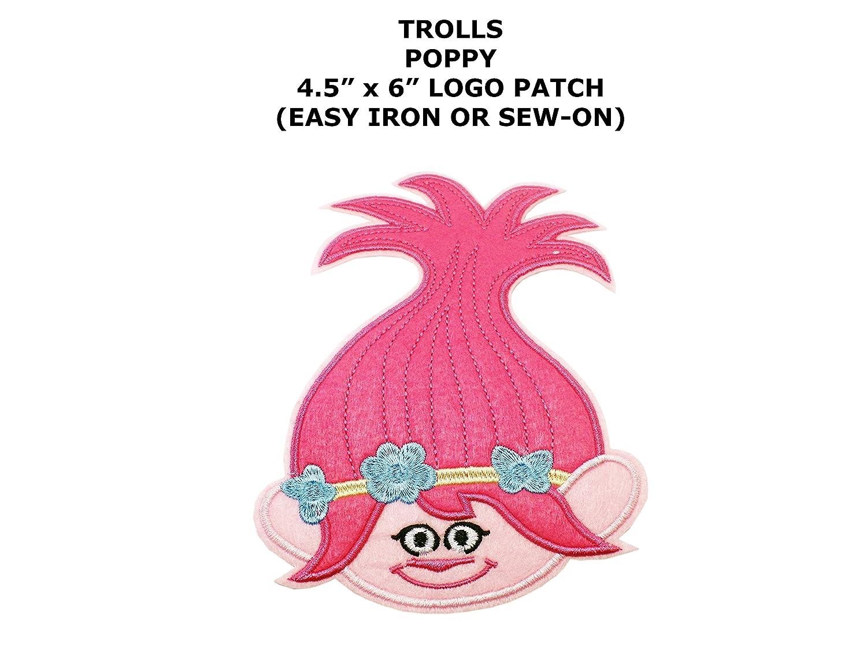 amazon com trolls poppy head shot embroidered iron sew on comics