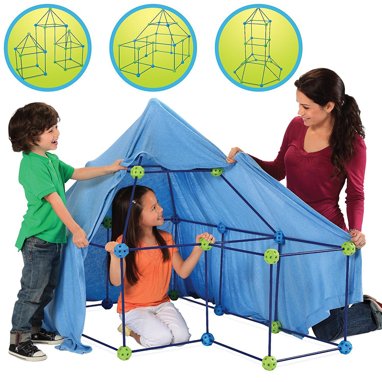 Discovery Kids建物テント77 Piece Construction Fortキットfor Kids、インドアBuild & Play城Stemおもちゃセット、インタラクティブ、教育、インスピレーション、クリエイティブ想像力おもちゃfor Children 5 Years + B01NBFEP1P