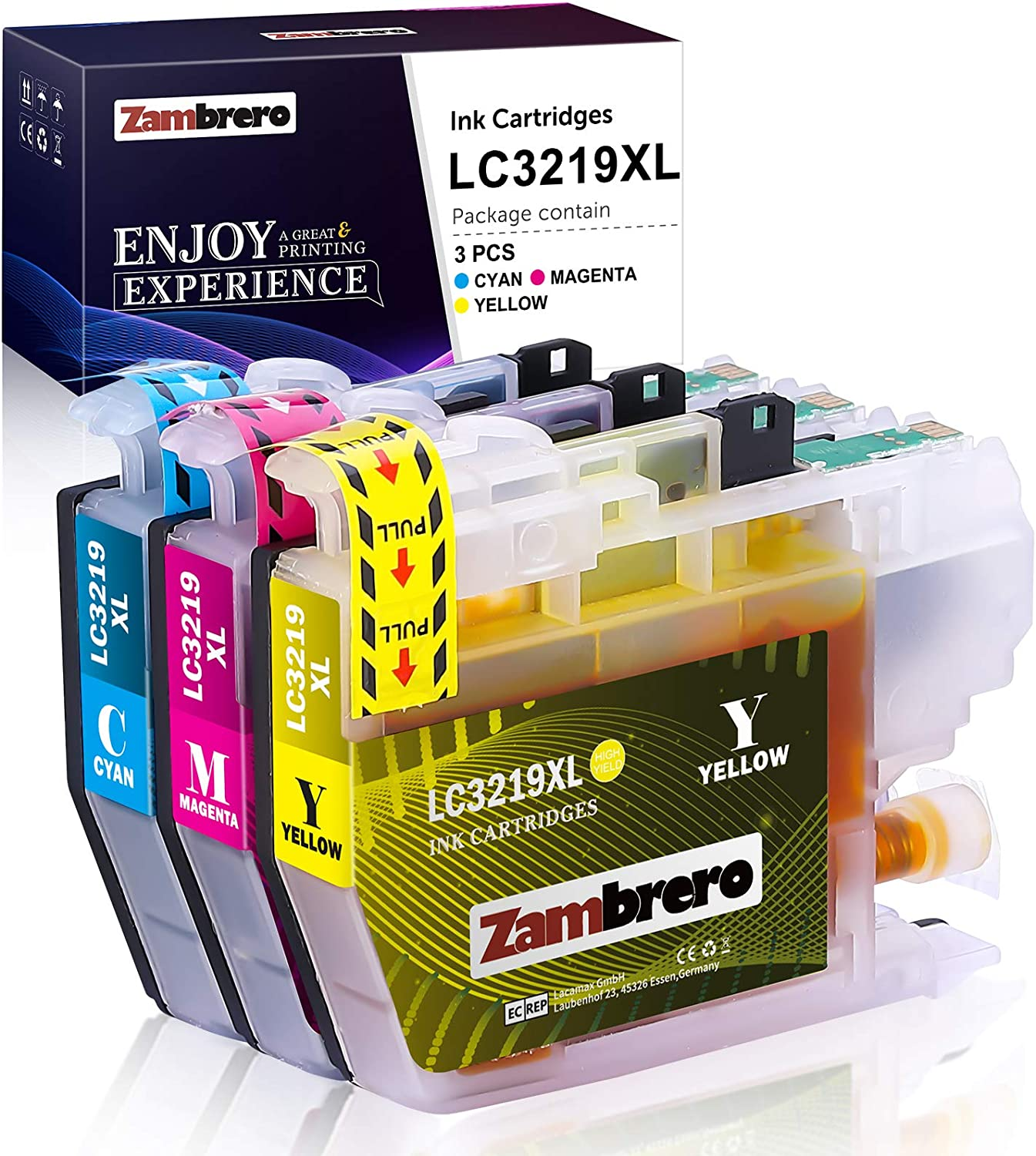 Zambrero Lc3219xl Colour Ink Cartridges Replacement For Brother Lc3219 Lc3217 Lc 3219 Lc 3217 Printer Cartridges Compatible With Brother Mfc J5330dw Mfc J5335dw Mfc J5730dw Mfc J6930dw Mfc J6935dw Mfc J6530dw J5930dw