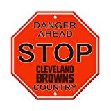 "NFL Cleveland Browns Stop Sign, 12"" x 12"