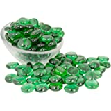 Emerald Glass Gems 1 Lbs. — FILLS 1 1/4 Cups Vol. —Non-Toxic Lead Free Vase Filler, Table Scatter, Aquarium Filler — Beautiful, Smooth, Fun, Vibrant Colors Crafted in the USA