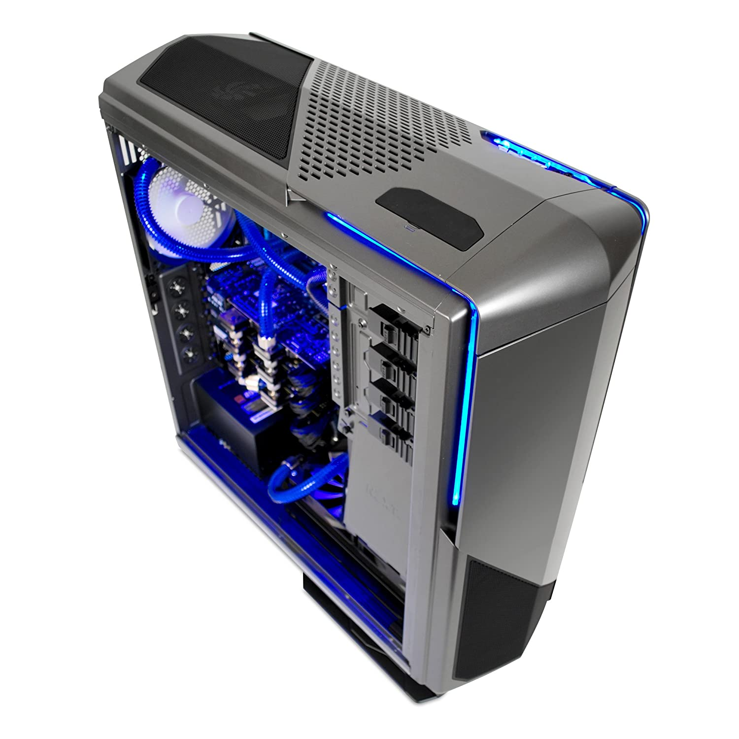 Amazon.com: NZXT Phantom 820 Full Tower Chassis with RGB Color Changing  Lights and Fan Control CA-PH820-G1, Gunmetal (Shell Only): Computers &  Accessories