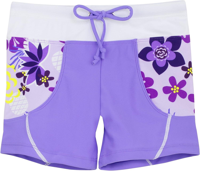 Amazon.com: Tuga Girls Swim Shorts 1-14 Years, UPF 50+ Sun Protection Board  Short: Clothing