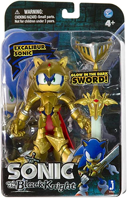 Amazon Com Excalibur Sonic 5 Mini Figure Shadows Sword Sonic And The Black Knight Series Toys Games