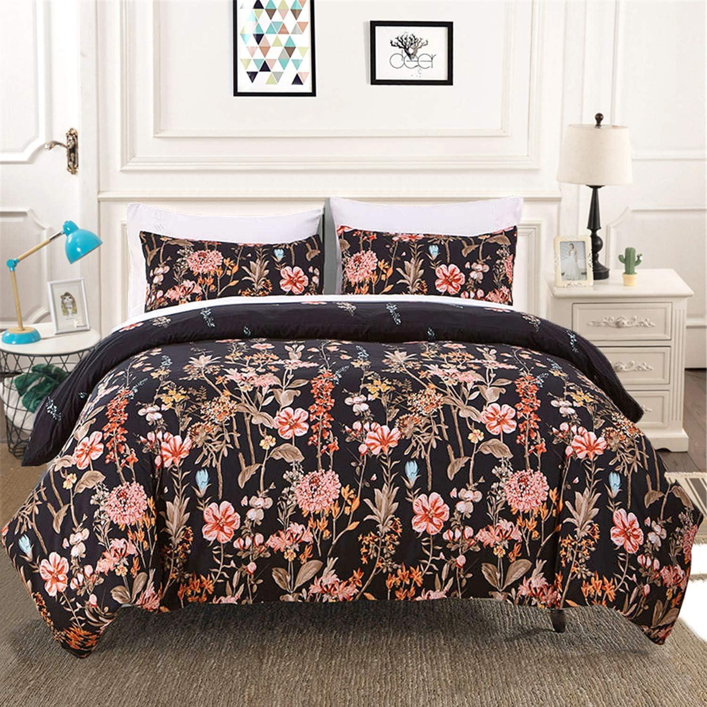 Amazon Com 3 Pieces Comforter Set Queen Reversible Floral Leaf