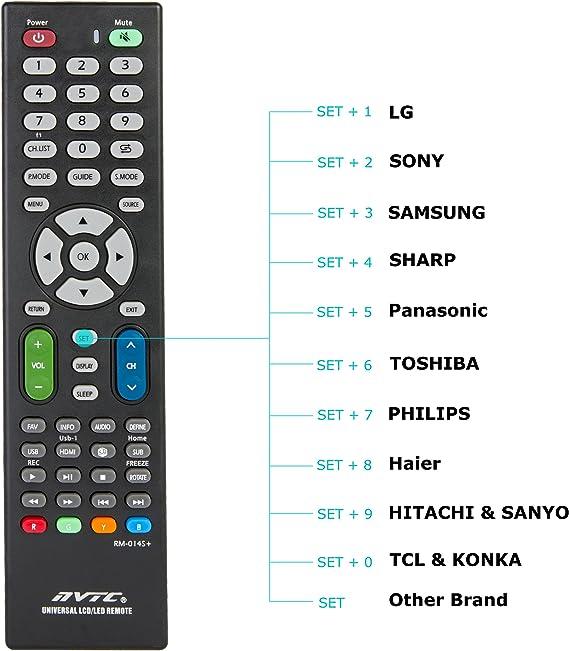 Oramics – Mando a distancia universal LCD/LED TV Para Todo Tipo De Fabricante marcas Remote Control para mando a distancia universal: Amazon.es: Electrónica