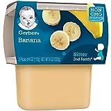 Gerber 2nd Foods Bananas, 4 oz Tubs, 2 Count