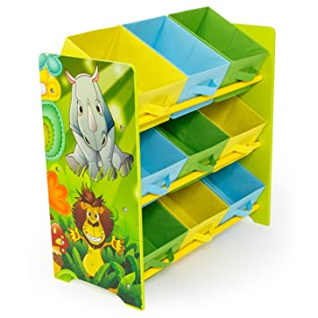 83f49ce497353 Rostrad ® KIDS CHILDRENS JUNGLE SAFARI 3 TIER TOY STORAGE SET 9 BINS  BASKETS BOOKS SHOES  Amazon.co.uk  Kitchen   Home