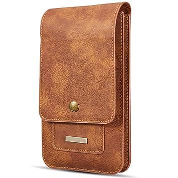Bolsas de Cuero con Clip de Cinturón Hombre: Amazon.es ...