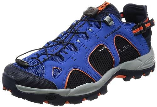 Salomon Techamphibian 3, Zapatillas de Trail Running para Hombre, Azul (Nautical Blue/Navy Blazer/Flame), 41 1/3 EU: Amazon.es: Zapatos y complementos