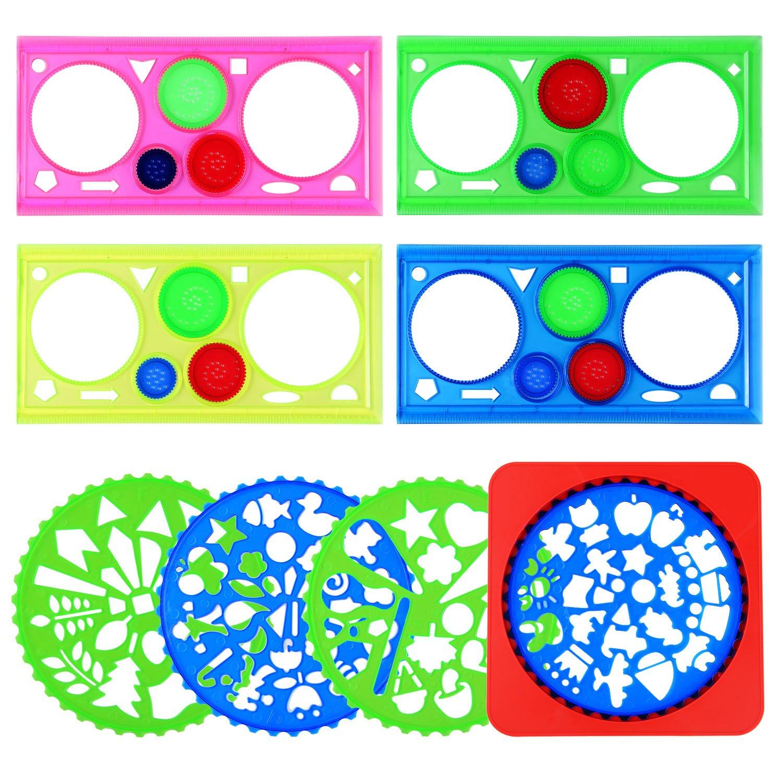 8 piezas Dibujo plantillas de dibujo Regla Plantilla para con ...