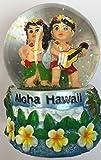 Snowglobe Boy and Gril Hawaiian Design