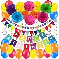 Zerodeco cumpleaños Decoraciones, Pancartas de Banderines de Happy