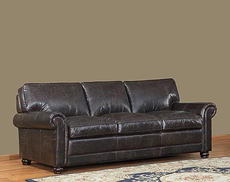 Admirable Lazzaro Genesis Sofa 91 By 40 By 36 Inch Brompton Chocolate Inzonedesignstudio Interior Chair Design Inzonedesignstudiocom
