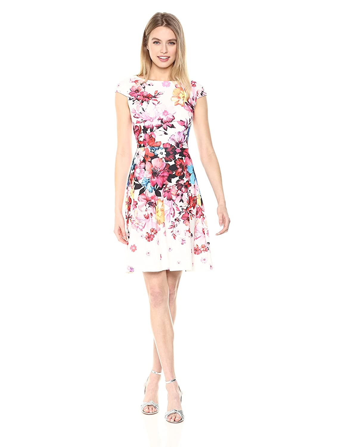 d4b407f90ed47 Top1  Adrianna Papell Women s Spring in Bloom Printed Scuba Fit and Flare  Dress. Wholesale ...