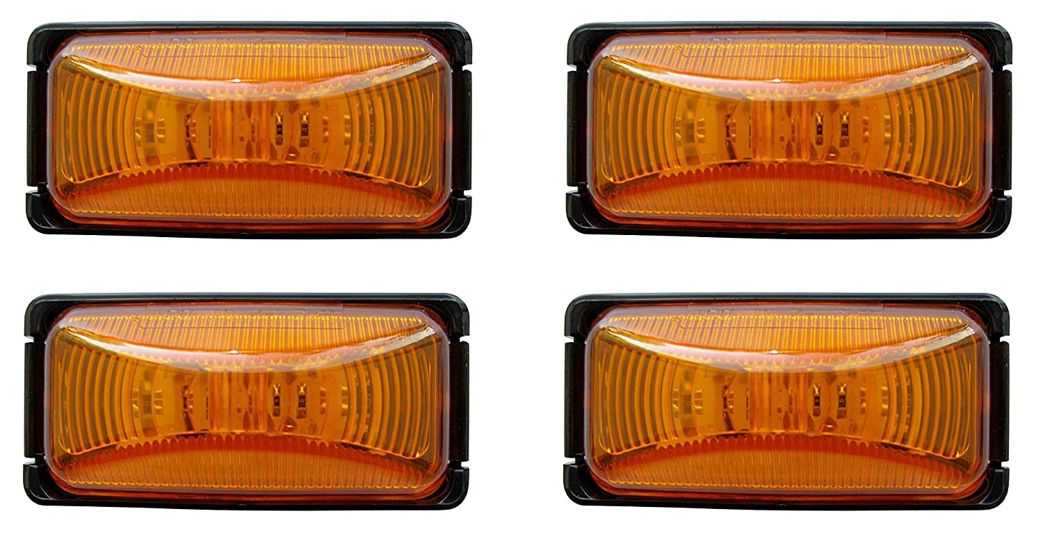 4 Optronics AL90AK Amber Mini Thinline Sealed LED Clearance//Marker Light Kit
