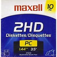 """Maxell 3.5 """" Floppy Disks MF2HD 1.44MB 10 Pk"""
