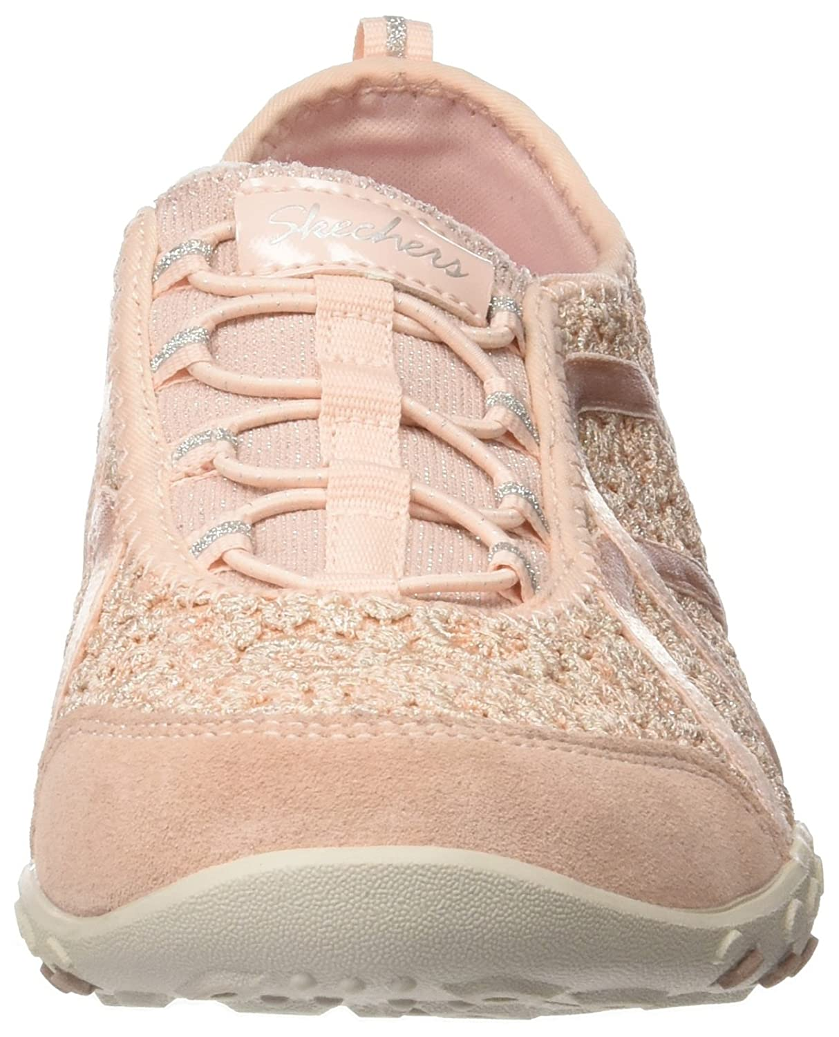 Breathe-Easy - Sweet Darling, Zapatillas para Mujer, Beige (Natural/Silver), 41 EU Skechers